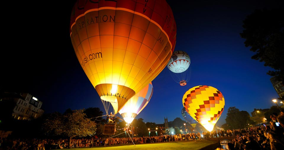 Hot air balloons - event management Dorset