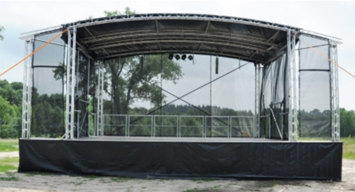 Portable stage rental for festivals, concerts & music events