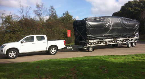 Trailer stage hire - quick installation